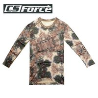 Wholesale Outdoors Hunting Camouflage CS T shirts Men Breathable Army Tactical Combat TShirt Military Camo Outdoor Long Sleeve T Shirt