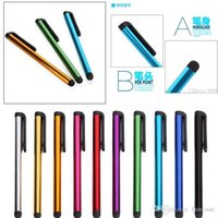 Wholesale 10 Colors Capacitive Screen Stylus Pen Touch Pen For iPhone iPad Air Touch Samsung Galaxy S5 S4 S3 Note All lphone MOQ