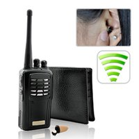 Wholesale Walkie Talkie Wallet Wireless Earpiece Hidden Covert Receiver Wireless Kit Cheat Exam Wireless Mini Audio Hidden Earphones Listening Device