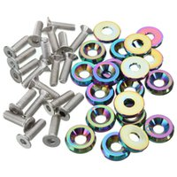Wholesale Low Price High Quality Billet Aluminum Bumper Washer Engine Bay Dress Up Kit Neo Chrome Screws Nuts