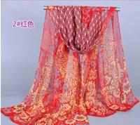 Wholesale 2015 hot sales fashion Womens Peacock Pashmina cotton Scarf wraps shawls