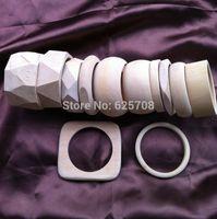 Cheap 12 Design Free Shipping DIY Unfinished Wooden Bangle Bracelet Sets Sale By Mixed Design 48pcs lot SMT-388