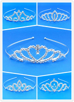 Wholesale 5 Different Style Girls Kids Crystal Princess Party Tiara Crown Wedding Hair Head Band