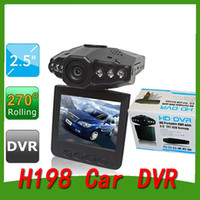 best car videos - Best selling Car Dash cams Car DVR recorder HD camera system black box H198 night version Video Recorder dash