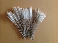 Wholesale stainless steel Bottle straw Wire cleaning brush cm Bottle straw brush nylon cleaner brush for straws
