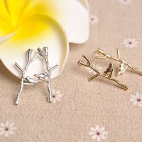 Cheap bird branch earrings Best alloy earrings