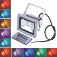 Wholesale 10W RGB LED Flood Light outdoor RGB LED Flood Lamp Waterproof IP65 Lamp With Remote Control AC V H4471