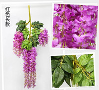 venda por atacado artificial flowers wholesale-atacado Upscale Artificial Silk Flower Vine Home Decor Simulação Wisteria Garland ornamento Craft para o casamento decorações do partido