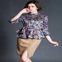 Cheap 2015 Spring European and American Fashion 2 Piece Set Women Horn Sleeve Skirt Women Clothing Set