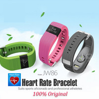 Wholesale 2016 JW86 Bluetooth Wireless Heart Rate Smart Bracelet Sport Fitness Wristband Similar to Fitbit Charge HR Track Pulse health band