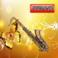 Wholesale drop B tune tenor saxophone red bronze carved top configuration outside