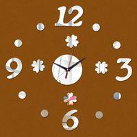 antique still life - 2016 Acrylic Mirror Sale Wall Clock Clocks Quartz Watch Horloge Reloj De Pared Modern Design Living Room Still Life Duvar Saati