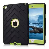 anti patterns - 2015 Shockproof Heavy Duty PC SILICONE Tyre Pattern Case Cover For Apple iPad mini with Touch Pen case Quick Fast