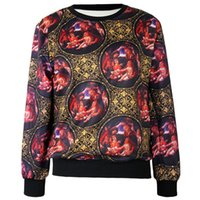 Cheap Women's autumn European art digital printing loose casual couple sweater WYS1115 Videos