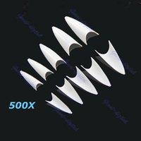 Wholesale Sharp Ending Stiletto Acrylic False Nail Tips Beige Art Beauty order lt no track