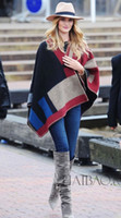 polar fleece blanket - 2015 Fall Autumn Fashion Hot Women Plus size Blanket Scarfs Oversized Shawl Cozy Warm Patchwork Tartan Wraps C30 p
