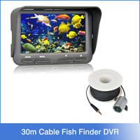 underwater fishing camera - 720P Underwater Ice Video Fishing Camera inch LCD Monitor LED Night Vision Camera m Cable Visual Fish Finder Waterproof