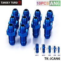 Wholesale Tansky AN AN MALE THREAD STRAIGHT FLARE BULKHEAD FLARE BLUE ALUMINUM FINISH FITTING TK JCAN6