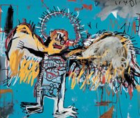 angels jean - Gift Oil Painting canvas Untitled Fallen Angel by Jean Michel Basquiat hand painted High qualilty