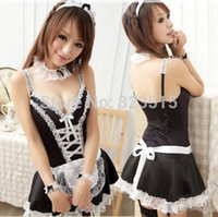 Wholesale FG1511 Hot Sales Women Sexy Lingerie Fancy Dress French Maid Servant Costume Cosplay Drop Shipping