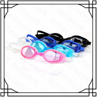 Wholesale High qualtiy Colorful Silicone Anti fog Anti ultraviolet swimming goggles men and women unisex coating swimming glasses adult goggles