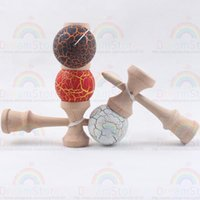 Wholesale Crack Paint Kendama Ball Skillful Juggling Game Ball Japanese Traditional Toy Balls Educational Toys For Adult Gift For Children