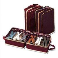 Wholesale Shoe Tote Waterproof Portable Folding Shoes Storage Case Boxes Makeup bag Travel Wash Storage Bag Shoe Holder