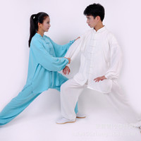Wholesale Chinese Wushu Taiji clothing Allison cotton soft breathable clothing for men and women performing acrobatics section
