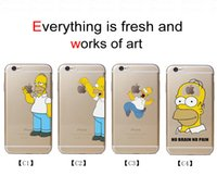 best hard cover - Cartoon Simpson Phone Cases Lovely Transparent Phone Covers Anti knock Best Hard PC Cases for Iphone S Splus C2