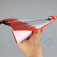 Wholesale Power Up Electric Paper Plane Airplane rc airplane rc model airplane Fashion Educational Toys gifts
