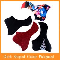 Wholesale High Quality set Duck Shaped Self adhesive Guitar Pickguard Scratchplate Multicolor Duck Shaped Pickguard For Guitar