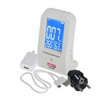 Wholesale High Precision Indoor Formaldehyde Detector Data Logger LCD Display Air Monitor Thermometer Hygrometer With EU Adapter order lt no track