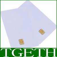 Wholesale High Quality Empty White FM4442 Chip PVC Contact Smart IC Card