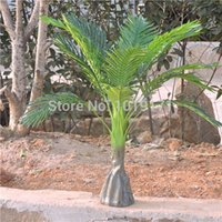 bamboo patio furniture - EMS Free Large CM Latex Wedding Home Patio Sago Office Furniture Decor Artificial Phoenix Bamboo Palm Plant Tree Green F482