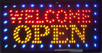 Wholesale Open Welcome LED Neon Sign x13 Now Brighter and Bigger with On off Animation On off Switch Chain
