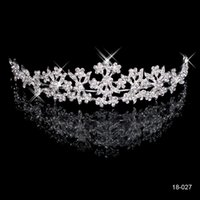 Wholesale 2015 New Cheap Under Elegant Rhinestones Wedding Prom Party Tiaras Crowns K Bridal Jewelry Accessories Real Image