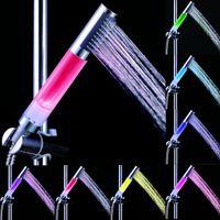 abs plastic rod - 2015 Newest rod shape temperature control colors LED Shower Head Romantic Color Rainbow Bathroom Shower Head