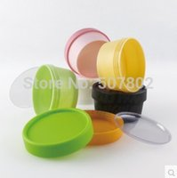 Wholesale cosmetic containers Capacity g cylinder mask PP bottle facial mask cream jars containers LUSH split charging jars