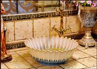Wholesale The sink basin Jingdezhen ceramic stage basin basin DP147 art basin of the basin that wash a face the Mediterranean