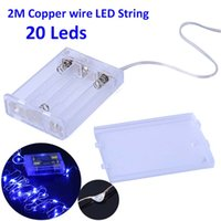 Wholesale Waterproof M Led Copper Wire LED String Bright White Warm White AA battery Christmas LED String Fairy Lights for Decoration
