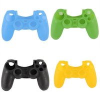 Wholesale 2014 New Silicone Skin Cover Case Protection Skin For SONY Playstation PS4 Dualshock Controller