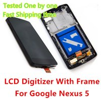 Wholesale High Quality LCD Display Touch Digitizer Screen Assembly with Frame Parts For Google Nexus LG D820 D821 DHL