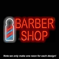 advertising pole - Barber Shop w Pole Neon Sign Handcrafted Neon Bulbs Advertising Custom Design Gifts Real Glass Tube Store Display Art Sign x16