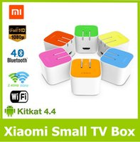 Wholesale XiaoMi Mi Box Mini Smart TV Box Android MT8685 Quad Core GB GB P HD H Decoder Google TV Player HTPC WiFi Bluetooth