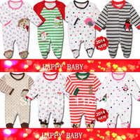 baby footed sleepers - High quality Baby pajamas with feet cover long sleeve baby rompers baby sleeper wear