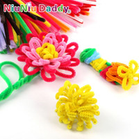 Wholesale 100pcs set Children s Educational Toys DIY toys materials shilly stick Plush Stick handmade art Christmas toys JIA593
