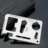 Wholesale Portable Pocket Tools Card Knife in Hunting Survival Camping Military Multi function FT