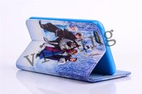 Cheap For iphone 6 cases iphone6 Plus Case Frozen Lisa Anna Olaf Movie Cartoon Wallet Case Stand Case Card Slot Case iphone6 4.7 5.5 Case 5 style