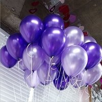 Wholesale 100Pcs Birthday Party New Year Wedding Violet Latex Helium Thickening Pearl Balloon Decoration
