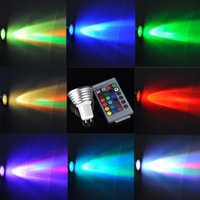Wholesale 2015 Innovative High Qulity W GU10 RGB LED Bulb Color Change Lamp Spotlight v IR Remote control m with Memory Effect